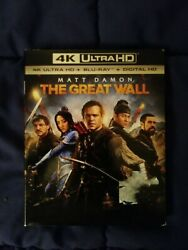 The Great Wall 4K w Slipcover and Blu Ray no digital $12.99