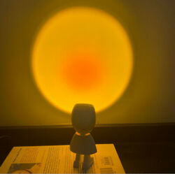 Table Lamp Sunset Projection Lamp Decoration Floor Bedroom Atmospheres Light New $16.69