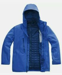 North Face Mens Thermoball Eco Snow Triclimate Jacket 3 in 1 XL Blue NWT $349 $175.00