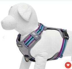 BLUEBERRY PET Medium Dog Harness Reflective Front Clip No Pull Padded Comfort $15.99