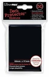 Ultra Pro 50 Black Sleeves Deck Protectors Standard Size for Magic MTG...