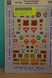 HO Scale Commercial Signs 1930s and 1940s Decals 87 422