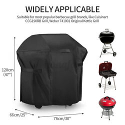 30In BBQ Barbecue Grill Cover Waterproof Heavy Duty Outdoor Small Gas Protec $16.97