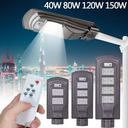 900000LM Commercial LED Solar Street Light Motion Sensor Auto On Off IP67 w Pole