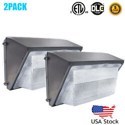 2PACK LED Wall Pack Security Light 70W 5500K Outdoor Commercial Lighting Fixture