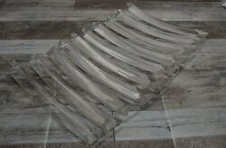 Lot of 10 Vintage Lucite 9 3 4quot; Clear Chandelier Replacement Crystals Prisms $19.99