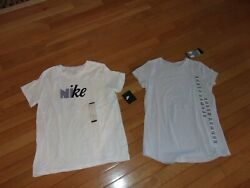 NWT 2 GIRLS SZ LARGE NIKE AND UNDER ARMOUR TEES WITH FREE SHIPPING