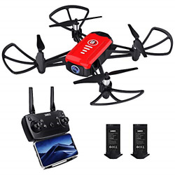 SANROCK H818 Mini Drones for Kids RC Quadcopter with 720P Real time Camera One $54.74