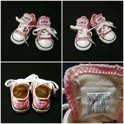 Converse All Star Toddler Girl#x27;s Size 5 Pink Low Shoes $16.95
