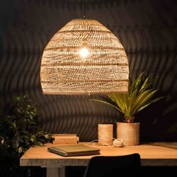 Handmake Rattan Lamp Vintage Hanging Lamps Loft Living Room Home Pendant Lights $166.23