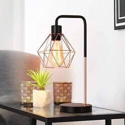 Modern Table Lamp Desk Lamp Geometric Shade Bedside Lamp for Nightstand Bedroom $23.99