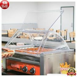 18 Hot Dog Roller Clear Acrylic Plastic Grill SNEEZE GAURD COVER ONLY Equipment $103.82