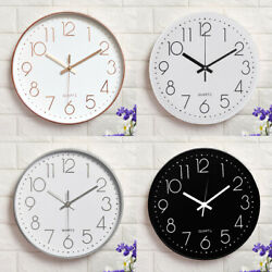 12quot; 3D Modern Wall Clock Silent Non Ticking Quartz Battery Operated Round Home $13.50