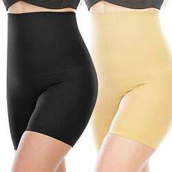 High Waisted Body Shaper Shorts Tummy Control Shapewear for Women Thigh Slimming $10.44