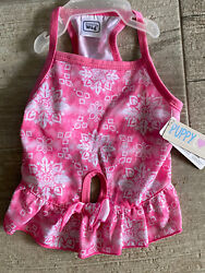 SIMPLY WAG Pink quot;SERENITYquot; Summer DRESS Puppy Dog SMALL $16.50