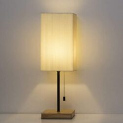 19quot; Japanese Style Modern Desk Lamps Table Lamp Square Nightstand Lamp Home Gift $25.99