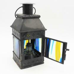 Stained Glass Oil Lantern Hanging Lamp Light Fixture Pendant $74.99