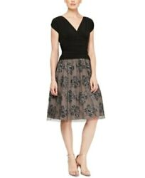 SLNY Women#x27;s Embellished Floral Cocktail Party Dress Black Size 14 $119 NwT $29.99