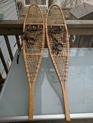 Beaver Tail Style Snowshoes with Bindings 40 Inches long 8 inches wide $95.00