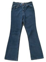Levis Signature Womens At Waist Bootcut Jeans Blue Denim Stretch 10 Misses $14.99