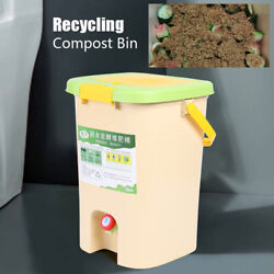 21L HDPE Kitchen Food Trash Compost Bin Bucket Pail Indoor Composter Container $57.05