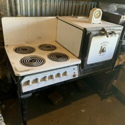 1927 westinghouse automatic stove oven antique with clock vintage $1350.00