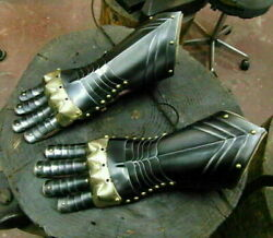 Medieval Armor Gothic Gauntlet Iron Gloves Hand Protection Battle Gauntlets gift $145.00