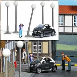 Busch 7821 HO Smart Crash with Damaged Car Driver Five Lamp Posts Scene $49.49