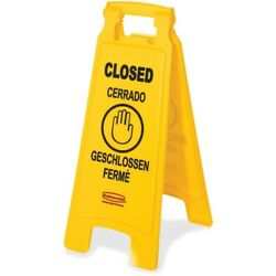 Rubbermaid Commercial Safety Sign 611278YWCT 611278YWCT 1 Each