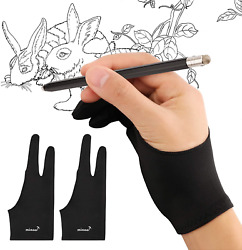 Mixoo Artist Gloves for Drawing Tablet 2 Pack Palm Rejection Drawing Gloves wi $12.93
