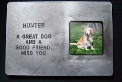 Pet Large Memorial Grave Headstone Custom Message and Photo 14 x 10 $24.99