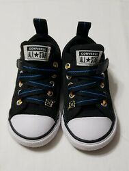 Converse All Star Toddler Boy#x27;s Size 5 Black Low Shoes $16.95