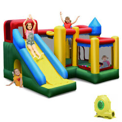 Mighty Inflatable Bounce House Castle Jumper Moonwalk Bouncer w 735W Blower New $399.98
