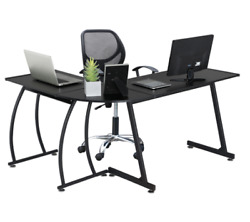 L Shaped Corner Home Office Desk Black $64.99