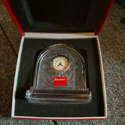 Baccarat Table clock Interior accessories Crystal Ornament Miscellaneous goods $165.00