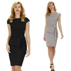 Bodycon Pencil Dress Business Party Plus Size Sexy Summer Womens Work Zipper C $37.58