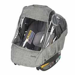 Evenflo Infant Car Seat Weather Shield and Rain Cover Grey Melange $39.22