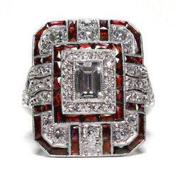 Mens Rings Exquisite Crystal Sapphire Womens Rhinestone Wedding Ring Jewelry $9.99