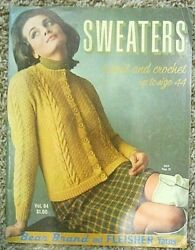 Vintage Copy of Sweaters To Knit amp; Crochet up to Size 44 Vol. 94 Late 60#x27;s $14.99