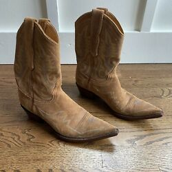 old gringo womens boots size 8 Blue Tan Short Shortie Suede Leather $149.00