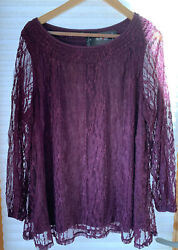 NWT Macy#x27;s Style amp; Co. Country Life Bohemian 2X Sugar Plum MSRP $59.50 Brand New $22.50
