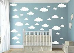 Cugbo 31Pcs Big Clouds Vinyl Wall Decals Diy Wall Sticker Removable Wall Art For $9.96