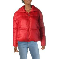 Boundless North Womens Red Winter Quilted Warm Puffer Coat Outerwear S BHFO 6253 $16.99