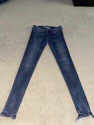 AMERICAN EAGLE SUPER SUPER STRETCH LOW RISE JEGGINGS EXTRA LONG SIZE 6 $25.00