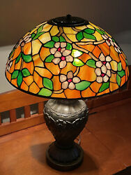 """16"""" Tiffany Reproduction Stained Glass Lampshade $775.00"""