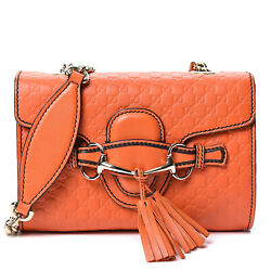 Gucci Emily Microguccissima Crossbody Sun Orange $833.00