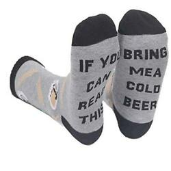 Novelty Socks for Men and Women If You Can Read This Cold Beer Socks Size 6.0 $20.00