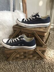 Converse Chuck Taylor All Star Canvas Low Top Navy Blue Shoes M 6 W 8 $20.00