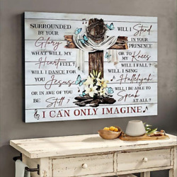 I Can Only Imagine Jesus Cross Butterflies Christian Wall Decor Poster No Frame $20.99