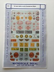 MICROSCALE DECAL HO SCALE 87 420: 1930's amp; 40's Commercial Signs